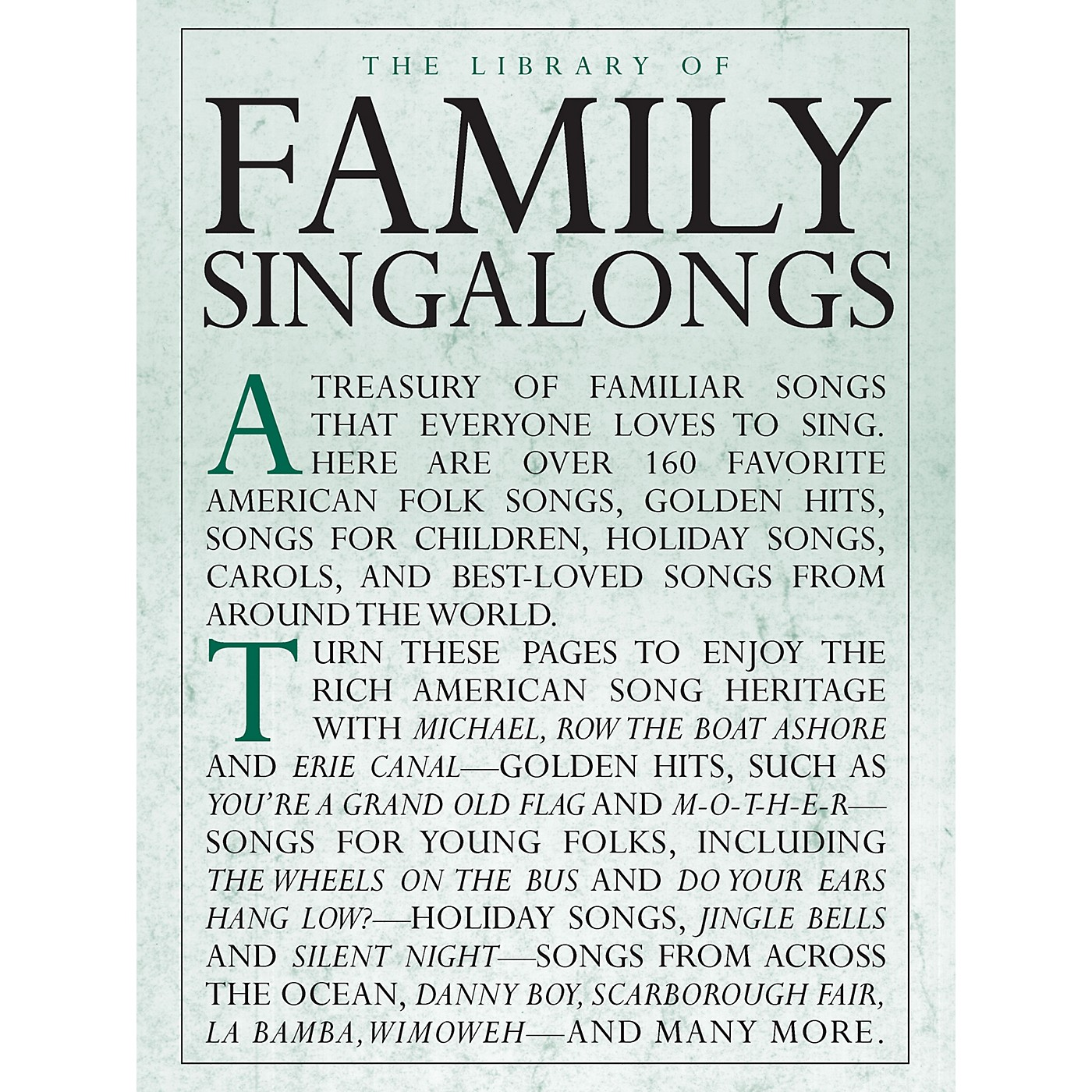 Music Sales The Library of Family Singalongs Music Sales America Series Softcover thumbnail