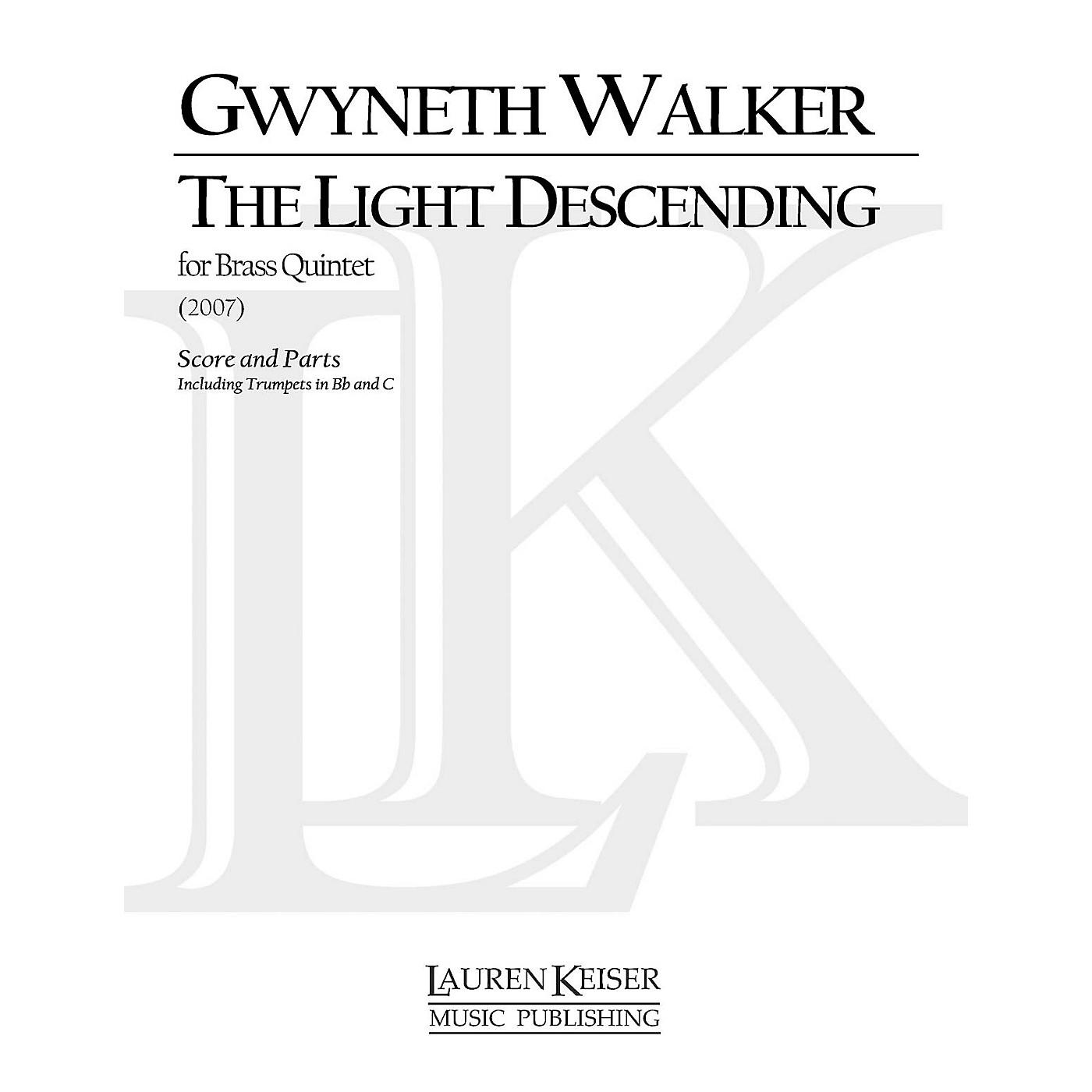 Lauren Keiser Music Publishing The Light Descending (for Brass Quintet) LKM Music Series by Gwyneth Walker thumbnail