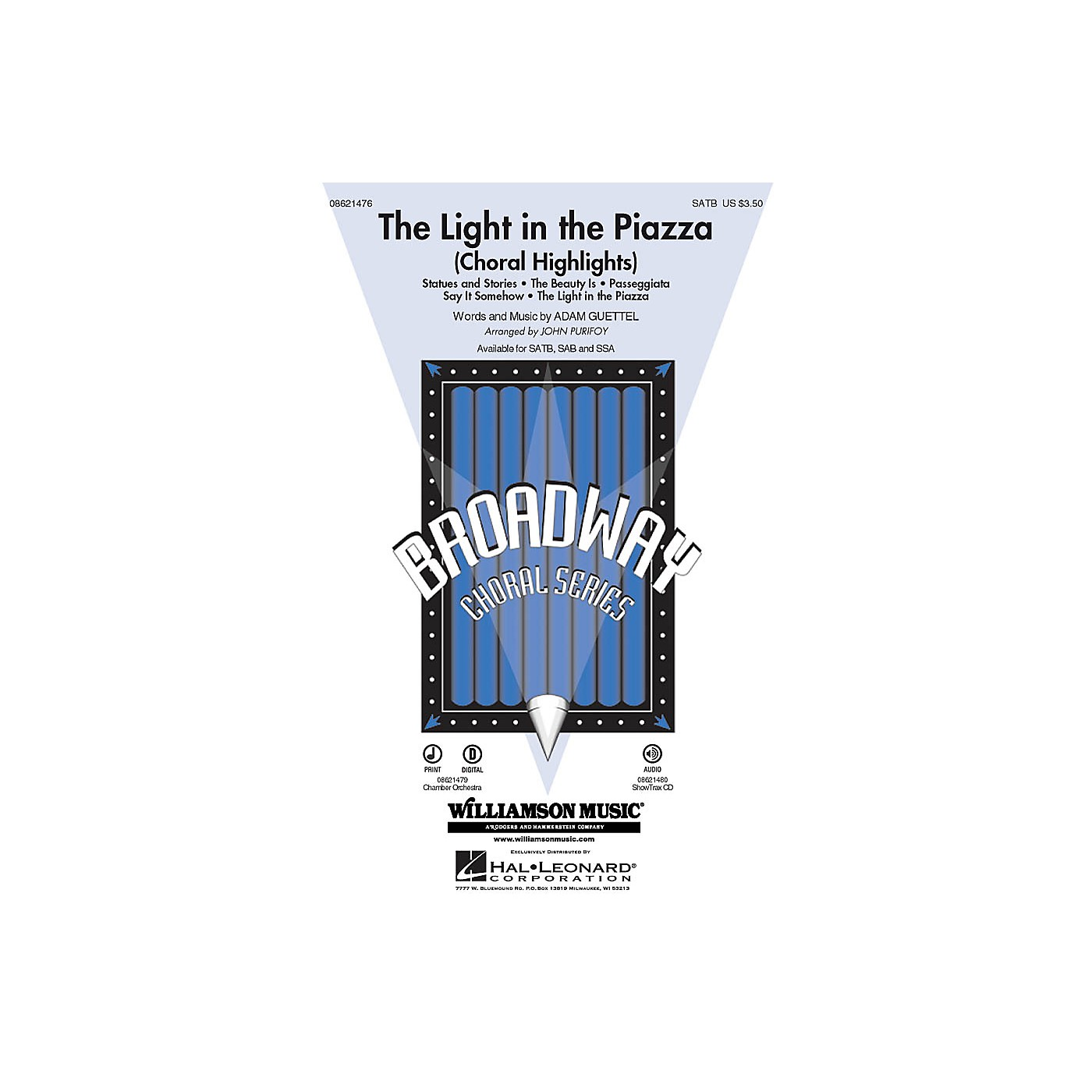 Hal Leonard The Light in the Piazza (Choral Highlights) SATB arranged by John Purifoy thumbnail