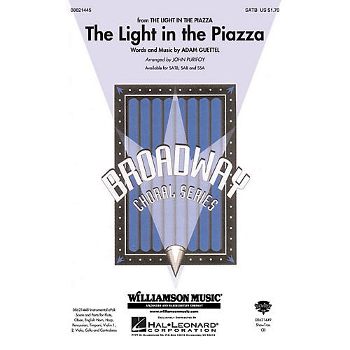 Hal Leonard The Light in the Piazza (from The Light in The Piazza) SATB arranged by John Purifoy thumbnail