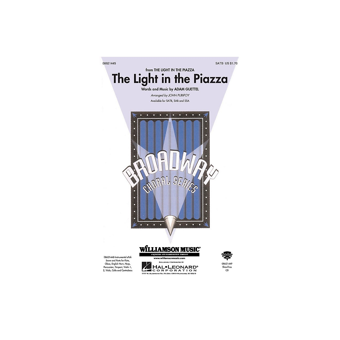 Hal Leonard The Light in the Piazza (from The Light in The Piazza) ShowTrax CD Arranged by John Purifoy thumbnail