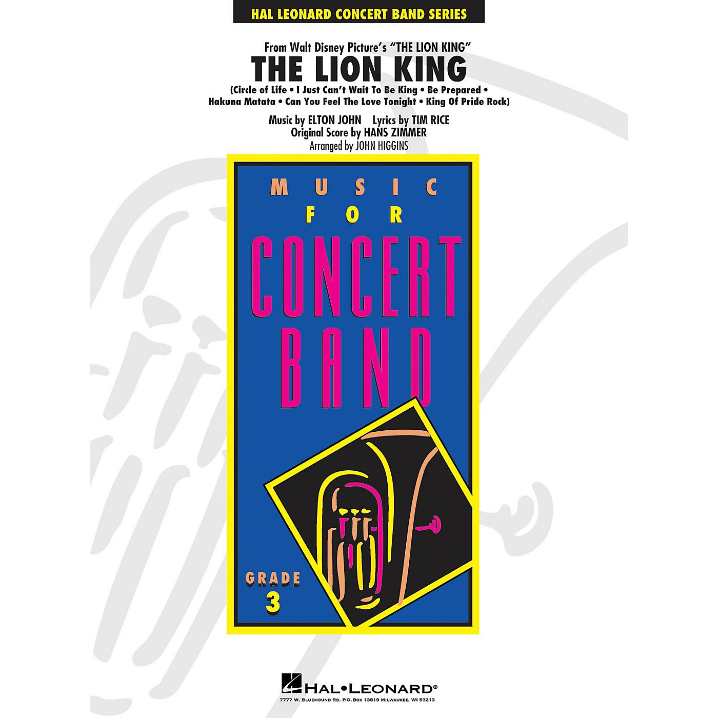 Hal Leonard The Lion King - Young Concert Band Series Level 3 arranged by John Higgins thumbnail