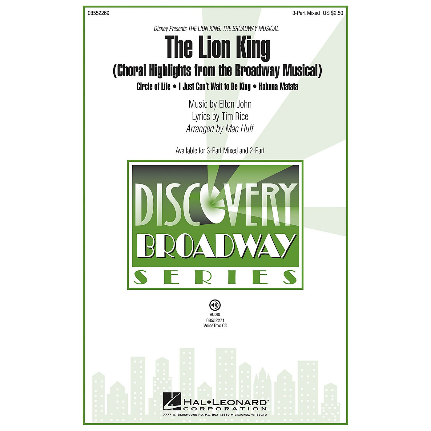 Hal Leonard The Lion King (Choral Highlights from the Broadway Musical) Discovery Level 2 2-Part Arranged by Mac Huff thumbnail