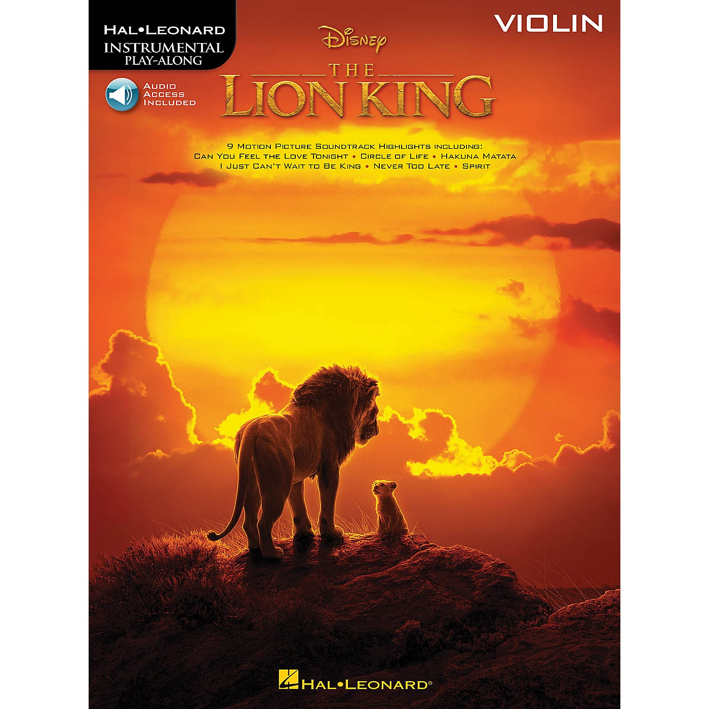 Hal Leonard The Lion King for Violin Instrumental Play-Along Book/Audio Online thumbnail
