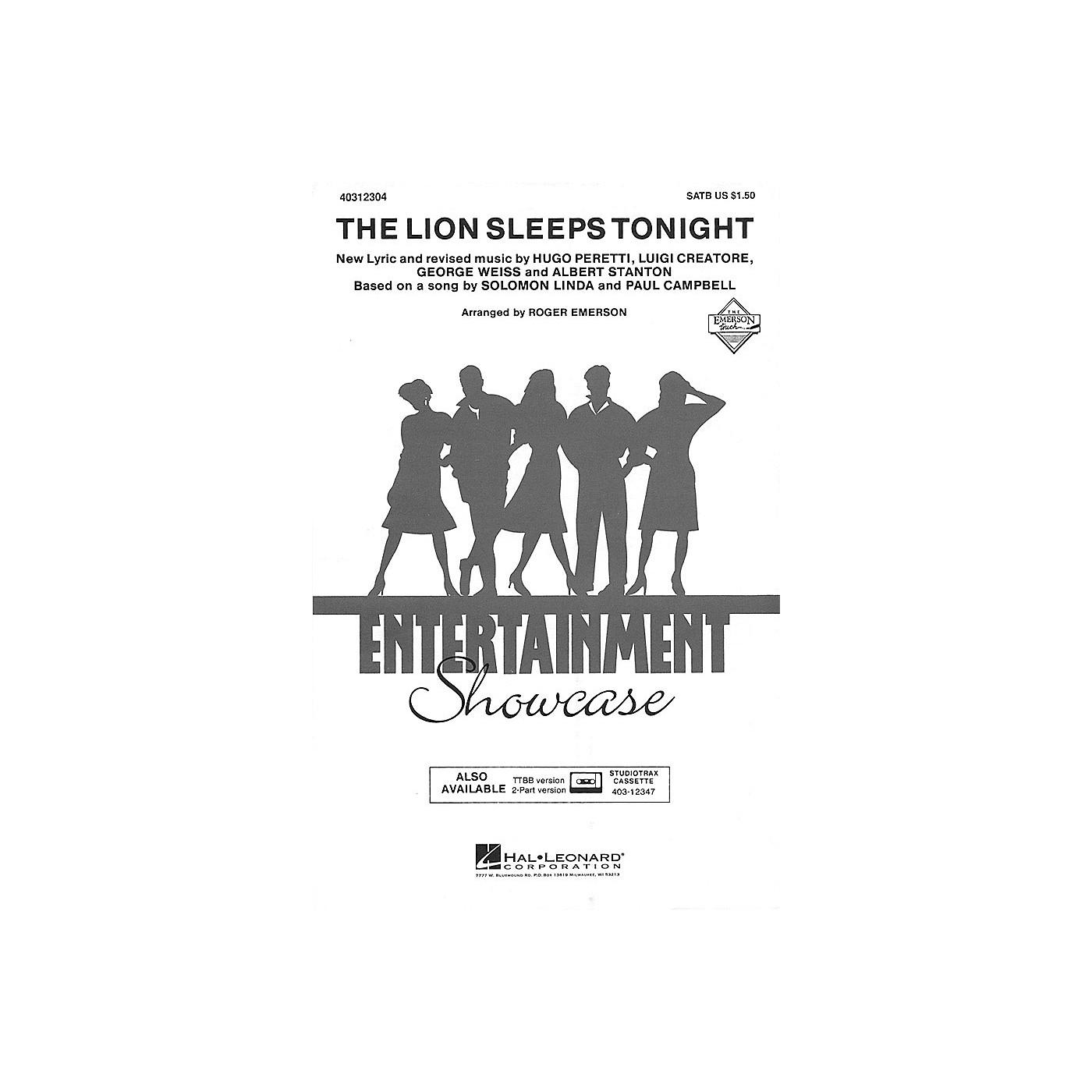 Hal Leonard The Lion Sleeps Tonight ShowTrax CD Arranged by Roger Emerson thumbnail