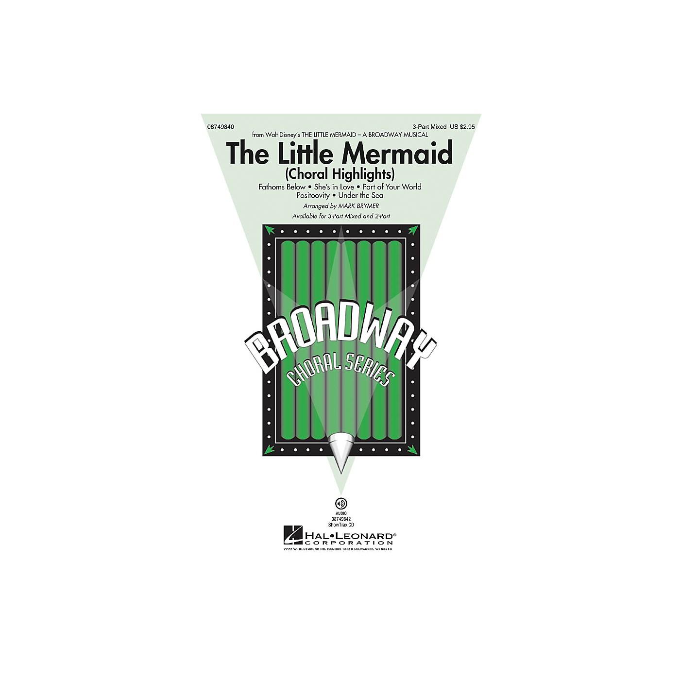 Hal Leonard The Little Mermaid (Choral Highlights) 2-Part Arranged by Mark Brymer thumbnail