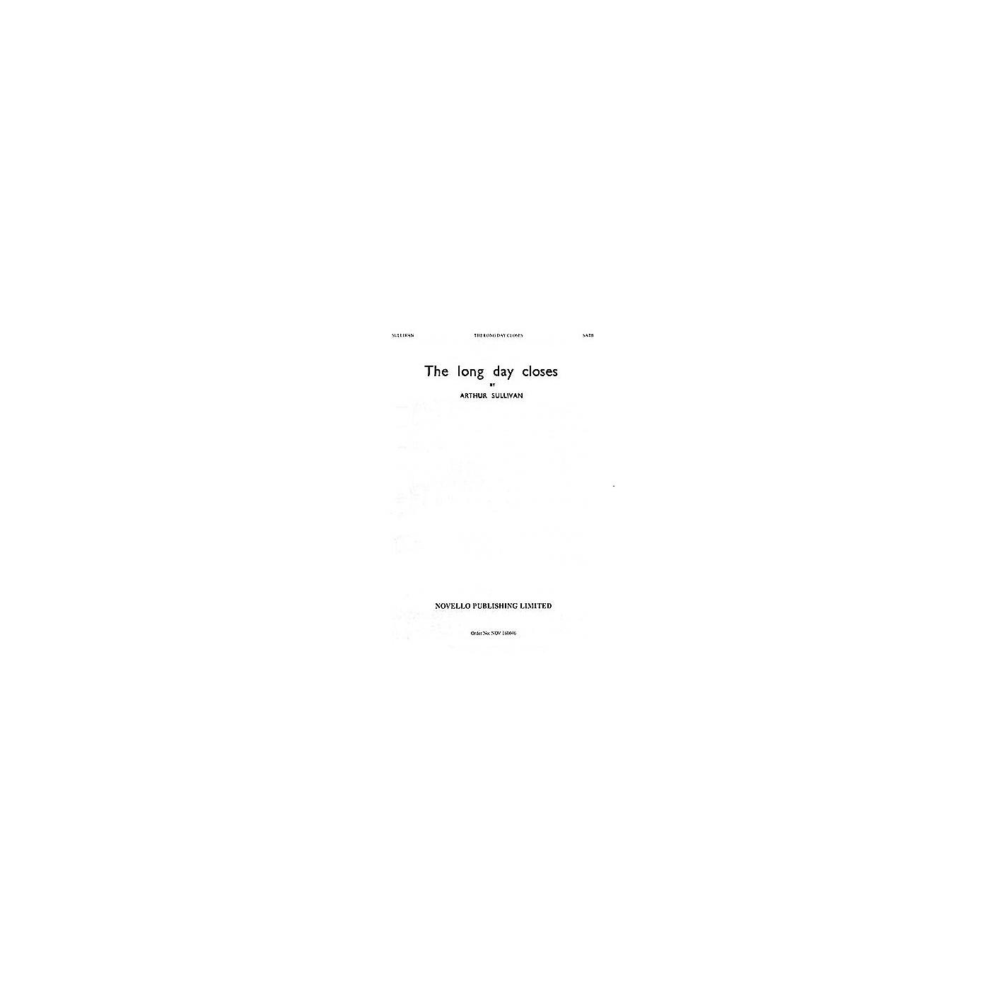 Novello The Long Day Closes SATB Composed by Sir Arthur Sullivan thumbnail