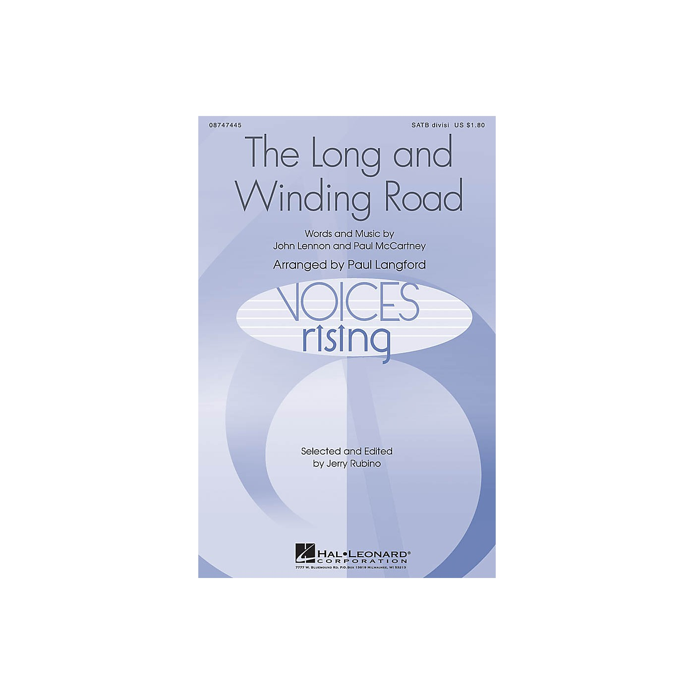 Hal Leonard The Long and Winding Road SATB Divisi by The Beatles arranged by Paul Langford thumbnail