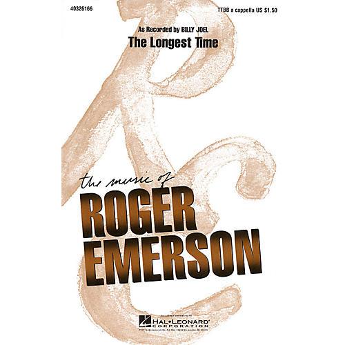 Hal Leonard The Longest Time TTBB A Cappella by Billy Joel arranged by Roger Emerson thumbnail