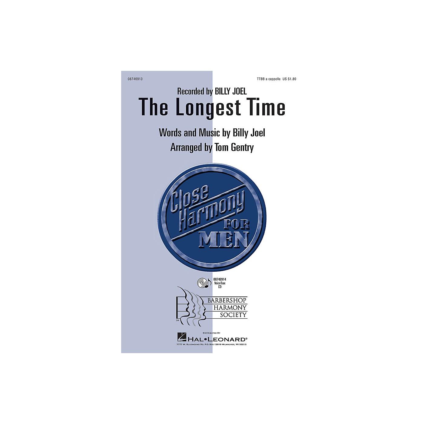 Hal Leonard The Longest Time TTBB A Cappella by Billy Joel arranged by Tom Gentry thumbnail