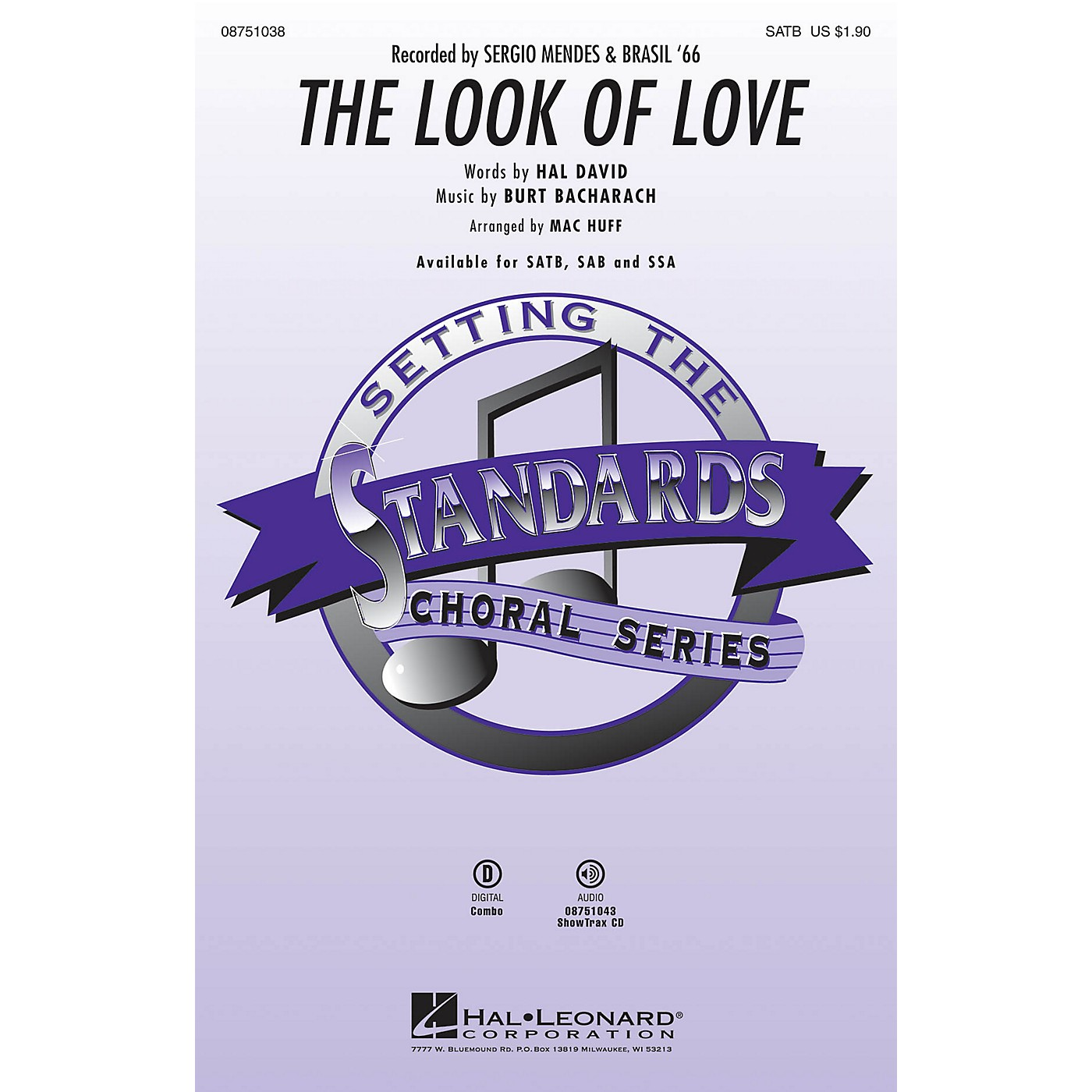 Hal Leonard The Look of Love SATB by Sergio Mendes & Brasil '66 arranged by Mac Huff thumbnail