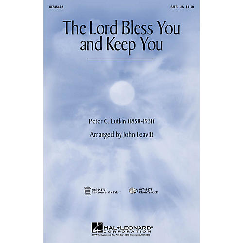 Hal Leonard The Lord Bless You and Keep You SATB arranged by John Leavitt thumbnail
