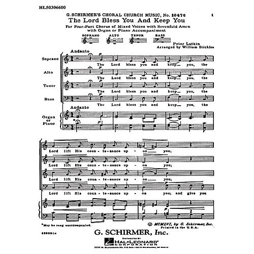 The Lord Bless You and Keep You (with 7-Fold Amen) SATB composed by ...