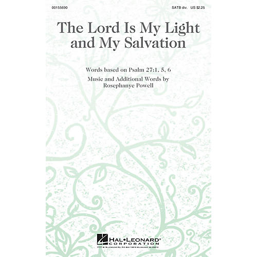 Hal Leonard The Lord Is My Light and My Salvation SATB Divisi composed by Rosephanye Powell thumbnail