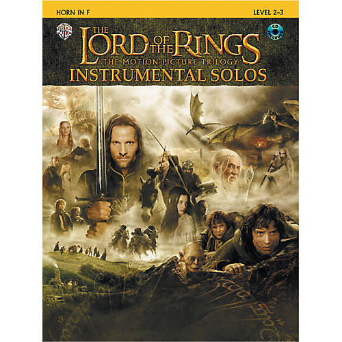 Alfred The Lord of the Rings Instrumental Solos Horn in F Book & CD thumbnail