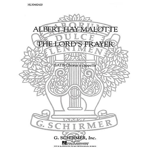 G. Schirmer The Lord's Prayer SATB a cappella composed by Albert Hay Malotte thumbnail