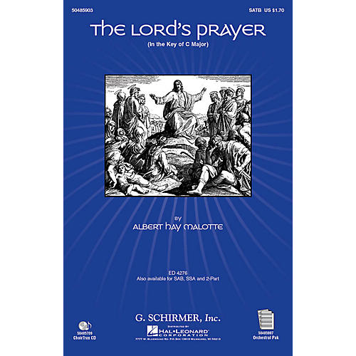 G. Schirmer The Lord's Prayer (in C, with Orchestra) CHOIRTRAX CD Arranged by Janet Day thumbnail