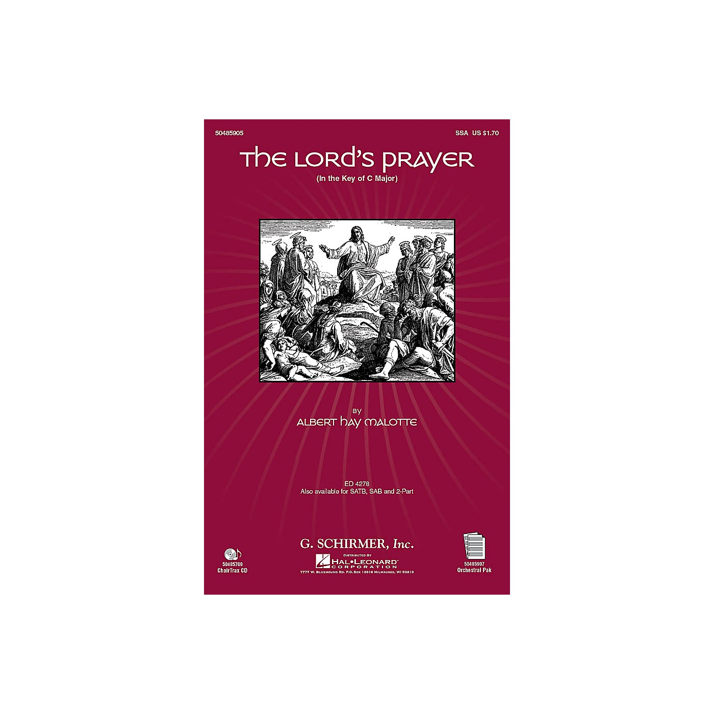 G. Schirmer The Lord's Prayer (in C, with Orchestra) SSA arranged by Janet Day thumbnail