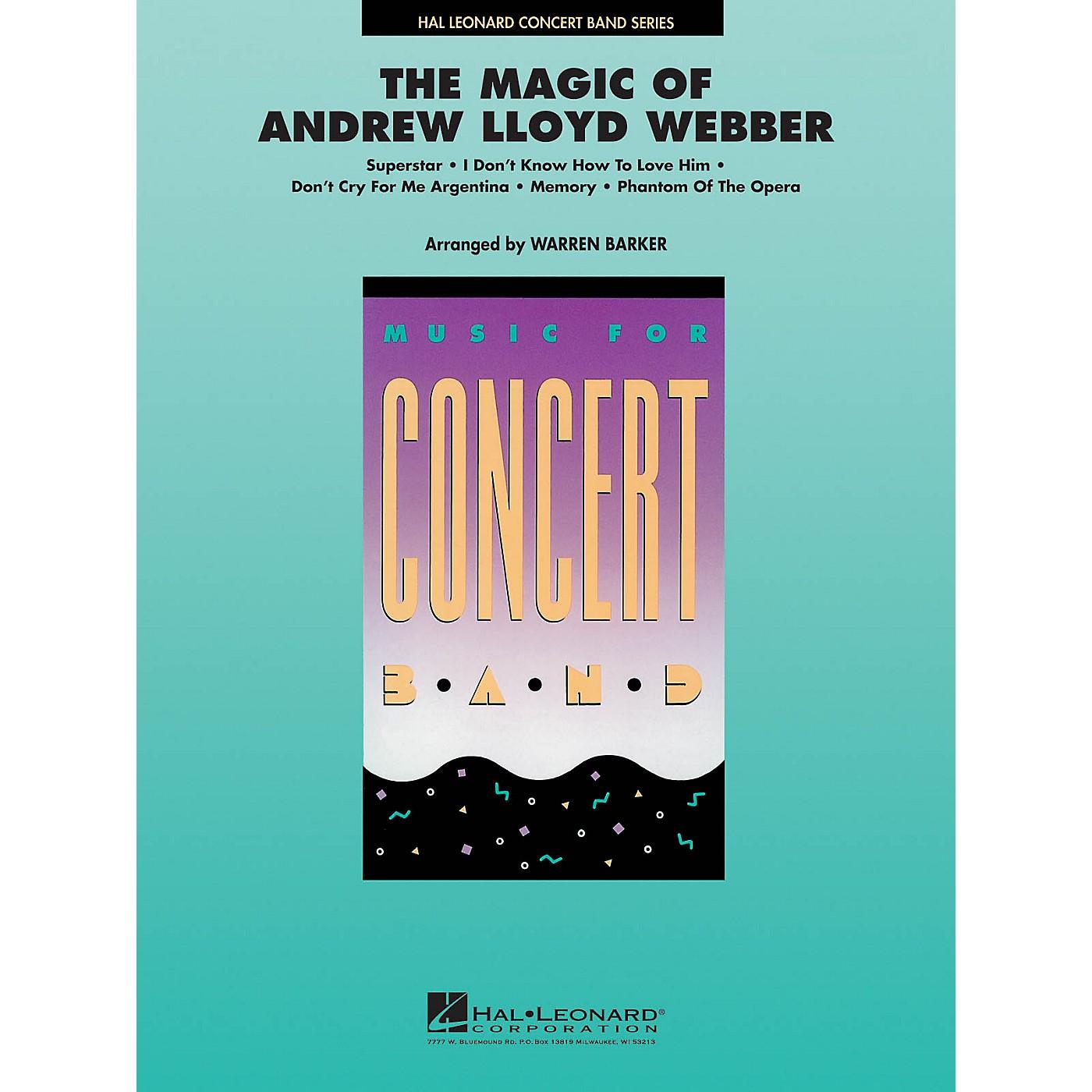 Hal Leonard The Magic of Andrew Lloyd Webber Concert Band Level 4 Arranged by Warren Barker thumbnail