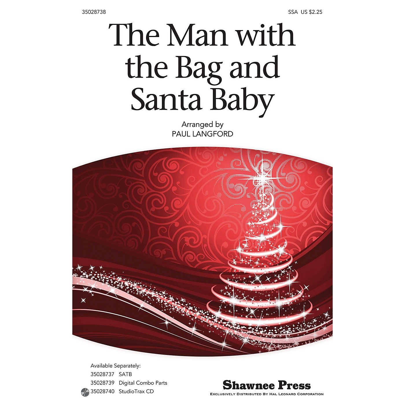 Shawnee Press The Man With The Bag And Santa Baby SSA arranged by Paul Langford thumbnail