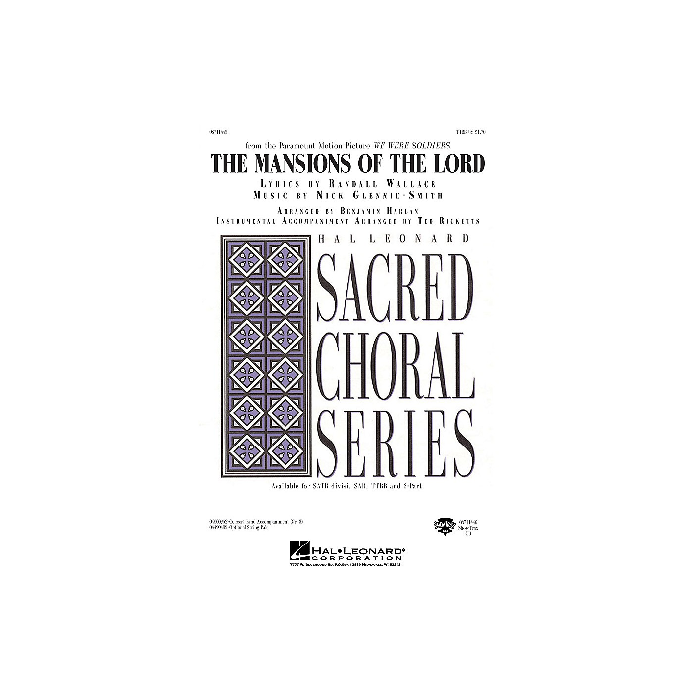 Hal Leonard The Mansions of the Lord (from We Were Soldiers) TTBB arranged by Benjamin Harlan thumbnail