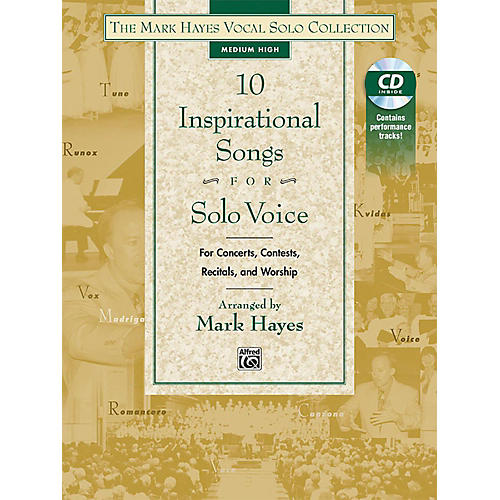 Alfred The Mark Hayes Vocal Solo Collection: 10 Inspirational Songs for Solo Voice Medium High Acc. CD thumbnail