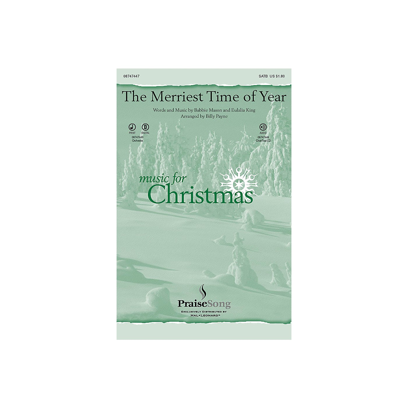Hal Leonard The Merriest Time of Year CHOIRTRAX CD Arranged by Billy Payne thumbnail