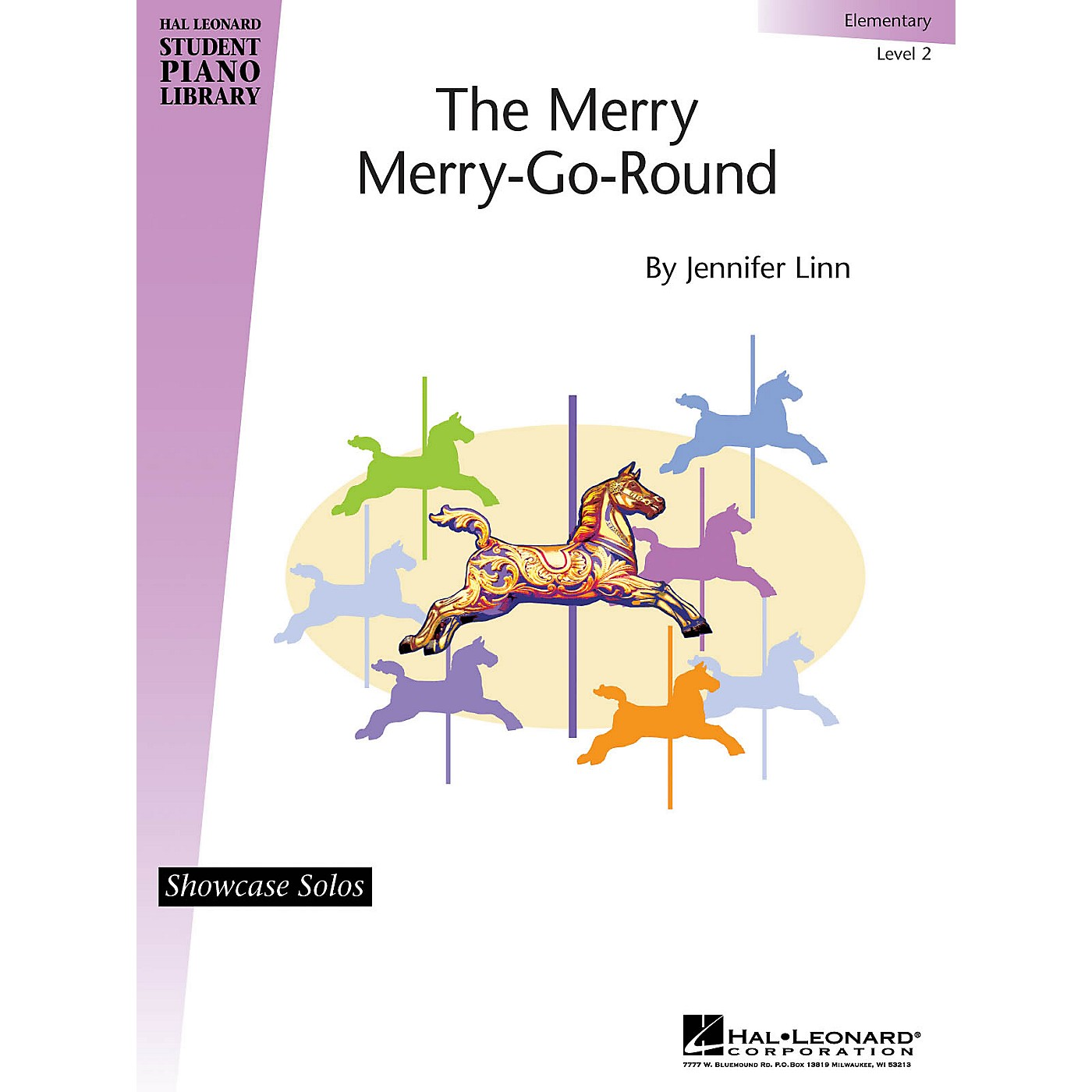 Hal Leonard The Merry Merry-Go-Round Piano Library Series by Jennifer Linn (Level Elem) thumbnail