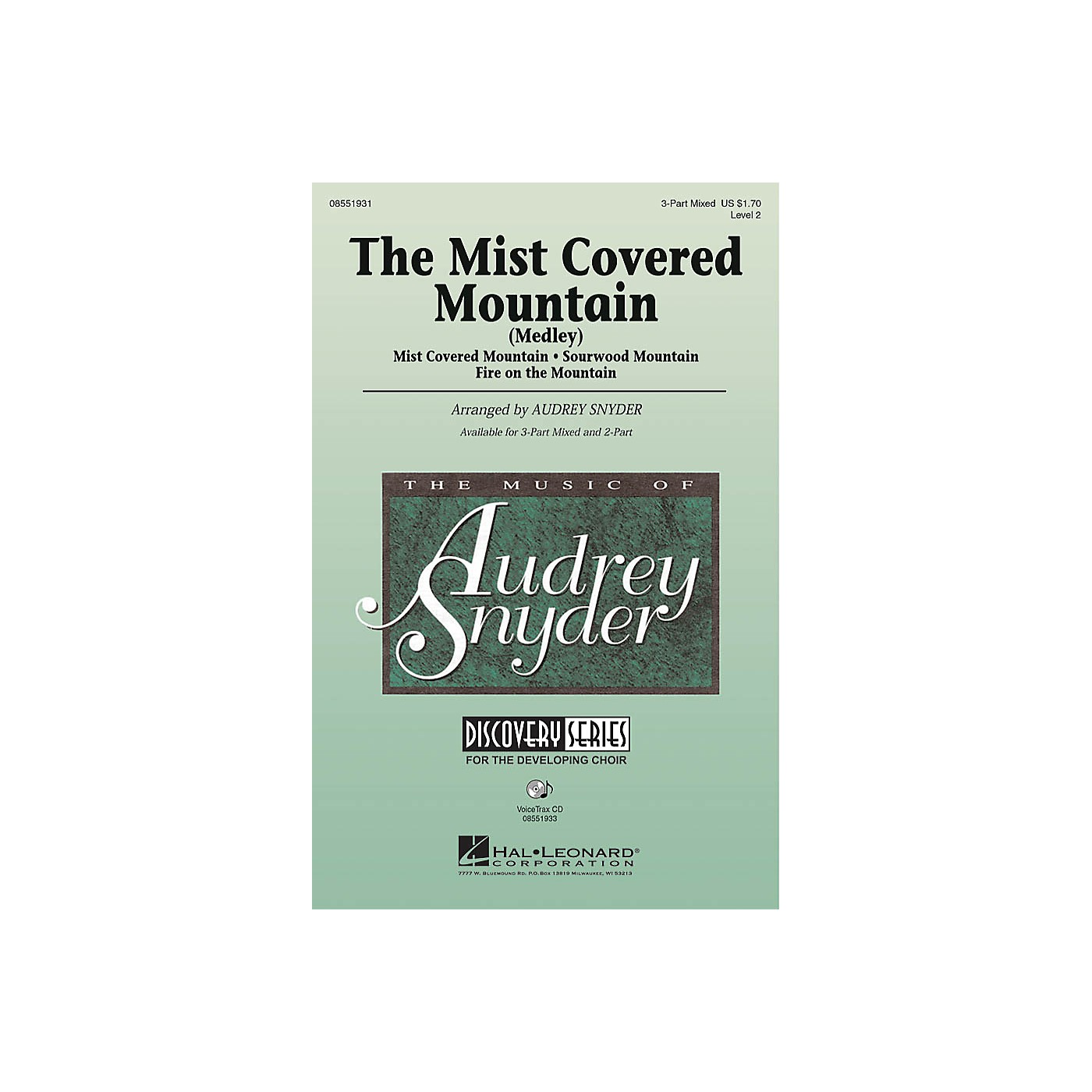 Hal Leonard The Mist Covered Mountain (Medley) 2-Part Arranged by Audrey Snyder thumbnail