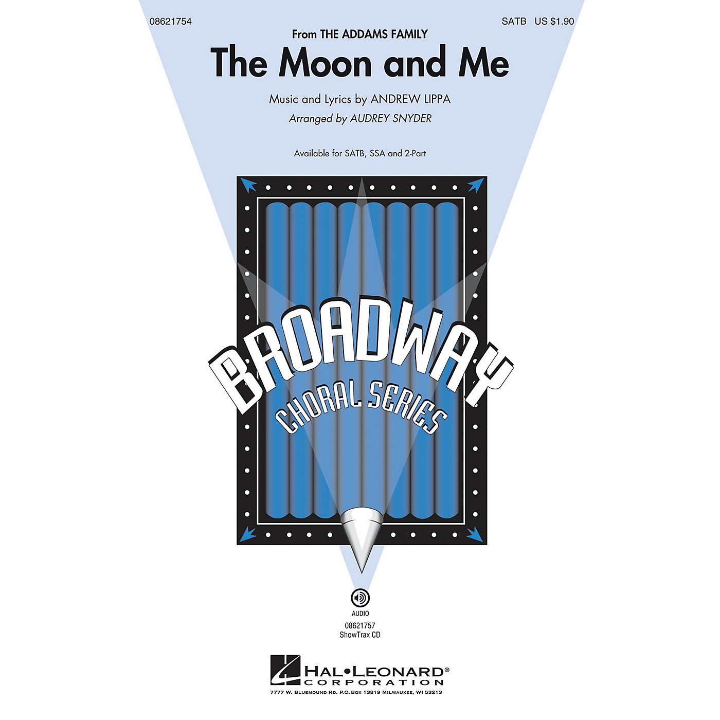 Hal Leonard The Moon and Me (from The Addams Family) SATB arranged by Audrey Snyder thumbnail