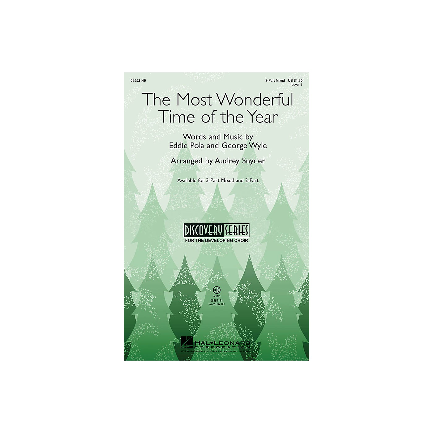 Hal Leonard The Most Wonderful Time of the Year (Discovery Level 1) VoiceTrax CD Arranged by Audrey Snyder thumbnail