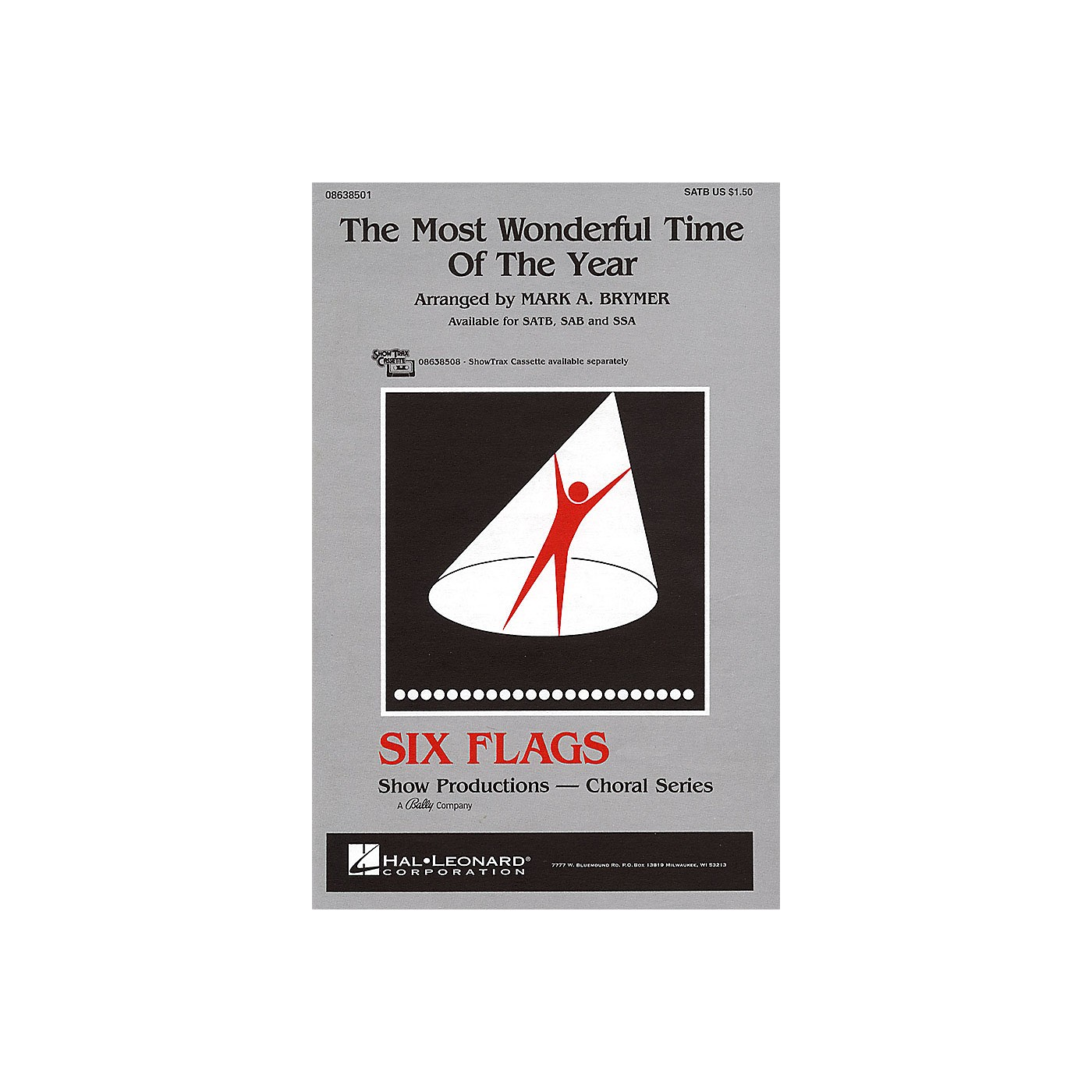 Hal Leonard The Most Wonderful Time of the Year SSA Arranged by Mark Brymer thumbnail