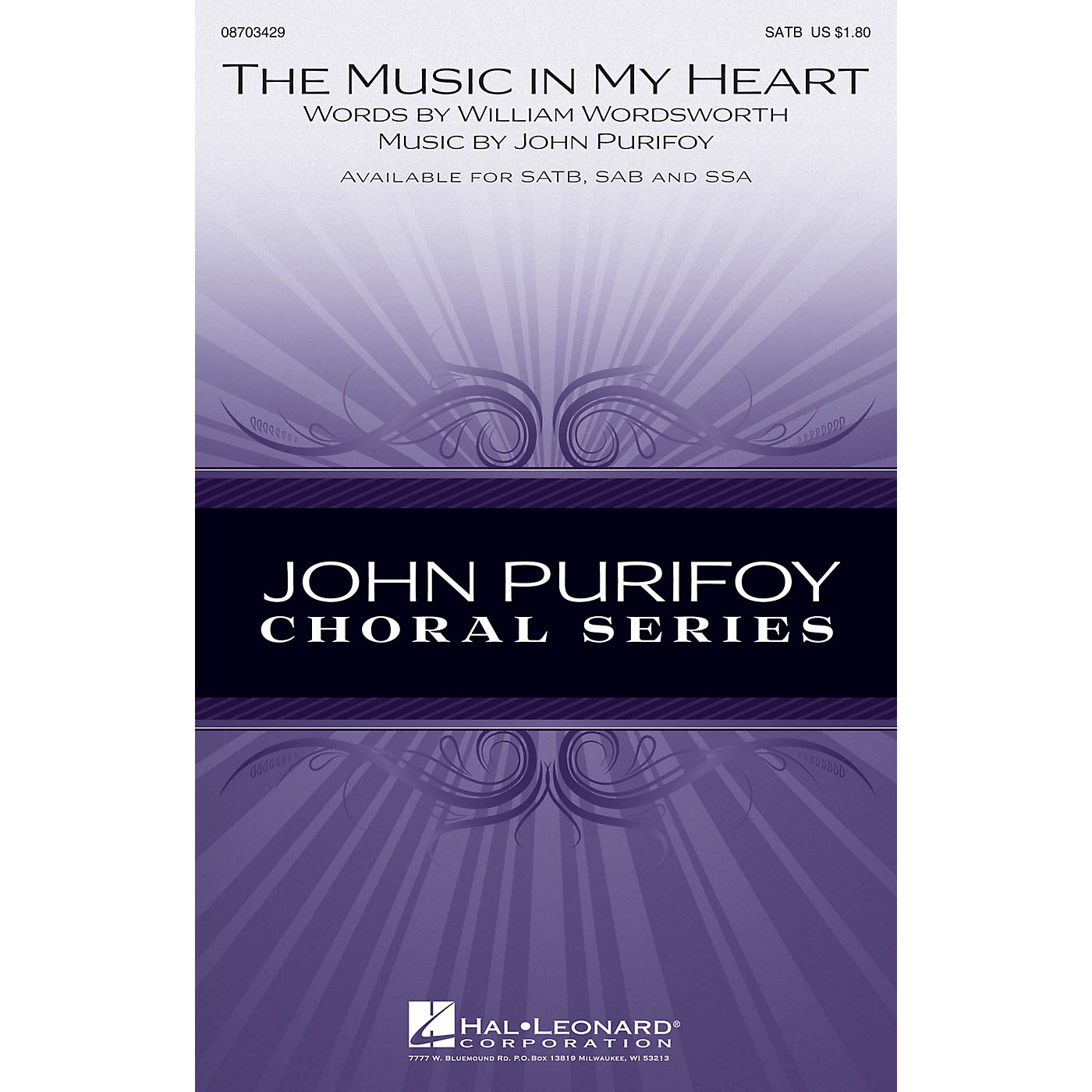 Hal Leonard The Music in My Heart SAB Composed by John Purifoy thumbnail