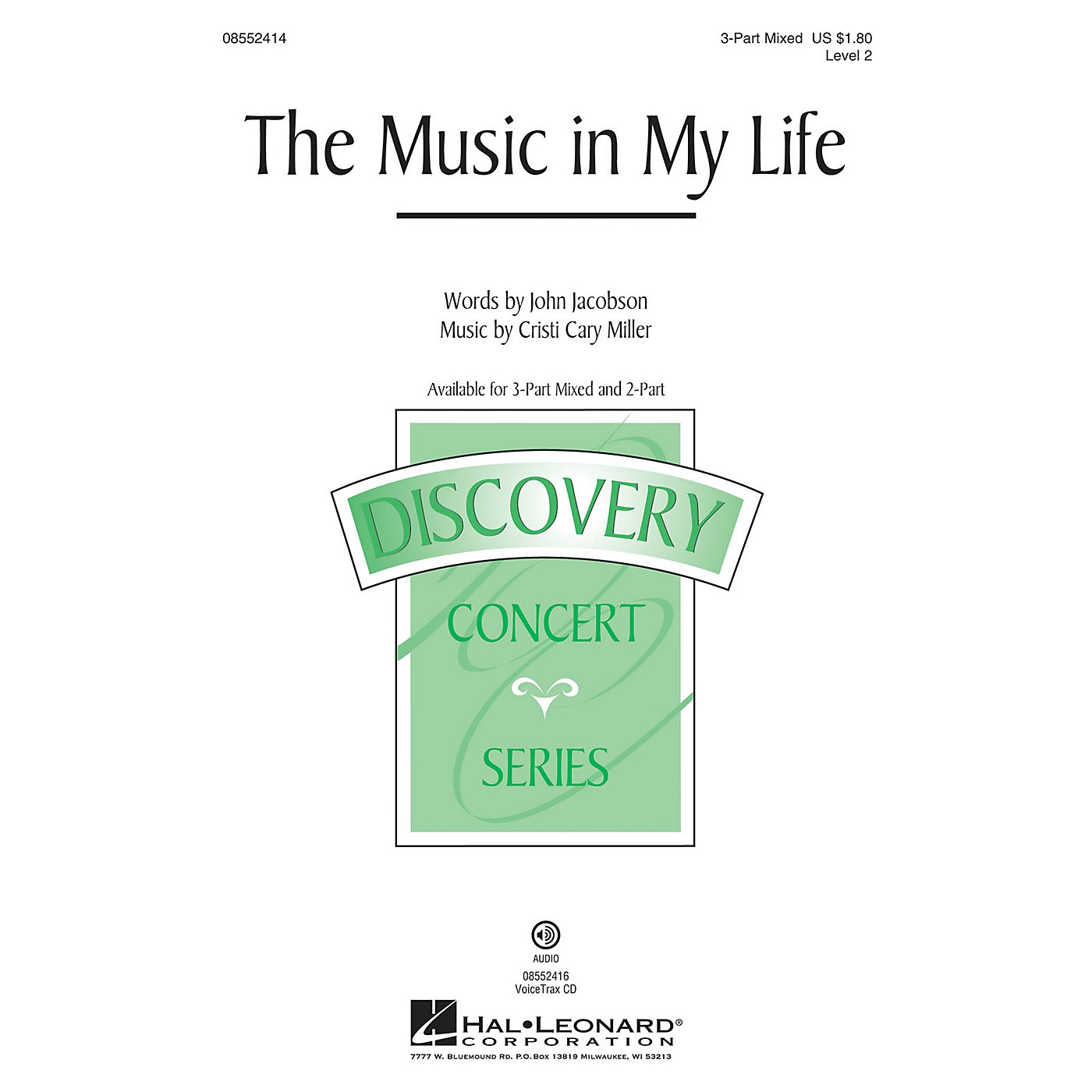 Hal Leonard The Music in My Life (Discovery Level 2) 2-Part Composed by John Jacobson thumbnail