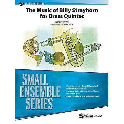 Alfred The Music of Billy Strayhorn for Brass Quintet Concert Band Grade 3.5 Set thumbnail
