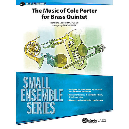 Alfred The Music of Cole Porter for Brass Quintet Concert Band Grade 3.5 Set thumbnail