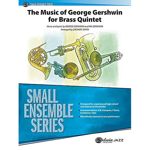 Alfred The Music of George Gershwin for Brass Quintet Concert Band Grade 3 Set thumbnail