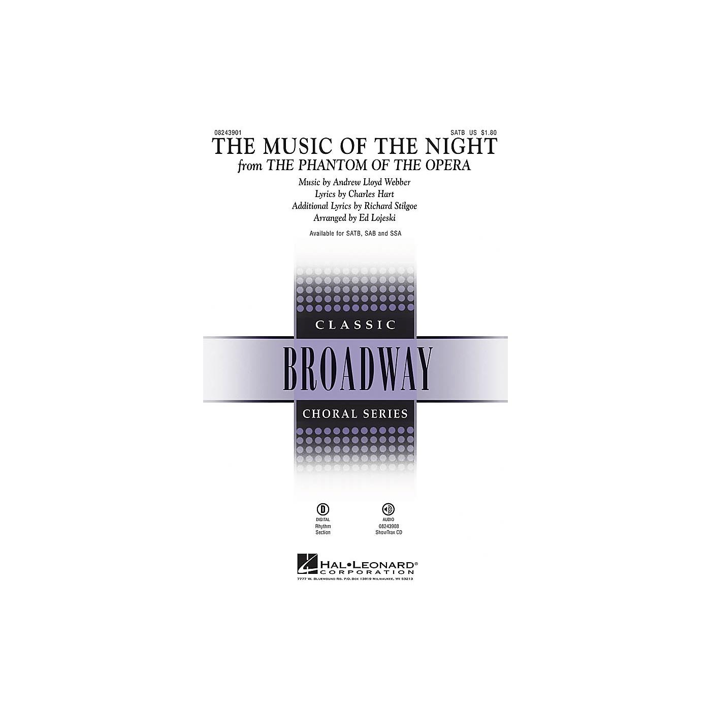 Hal Leonard The Music of the Night (from The Phantom of the Opera) SATB arranged by Ed Lojeski thumbnail