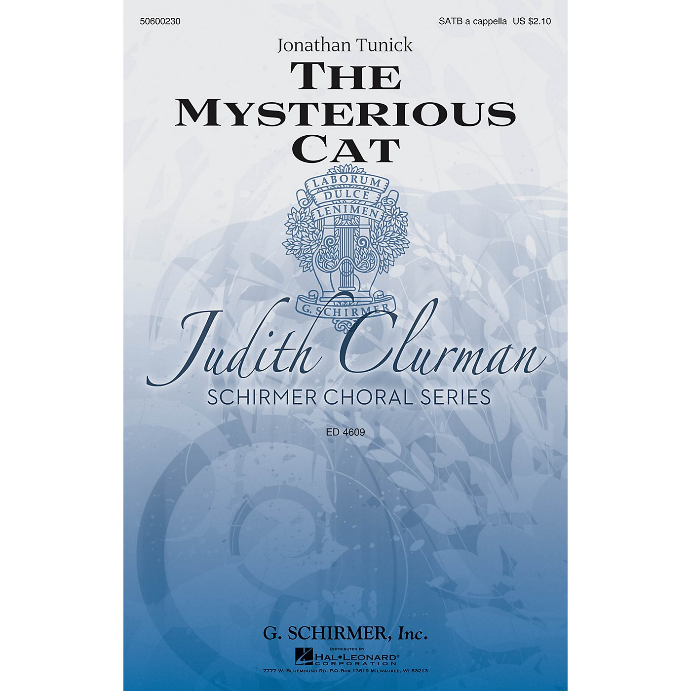 G. Schirmer The Mysterious Cat (Judith Clurman Choral Series) SATB a cappella composed by Jonathan Tunick thumbnail