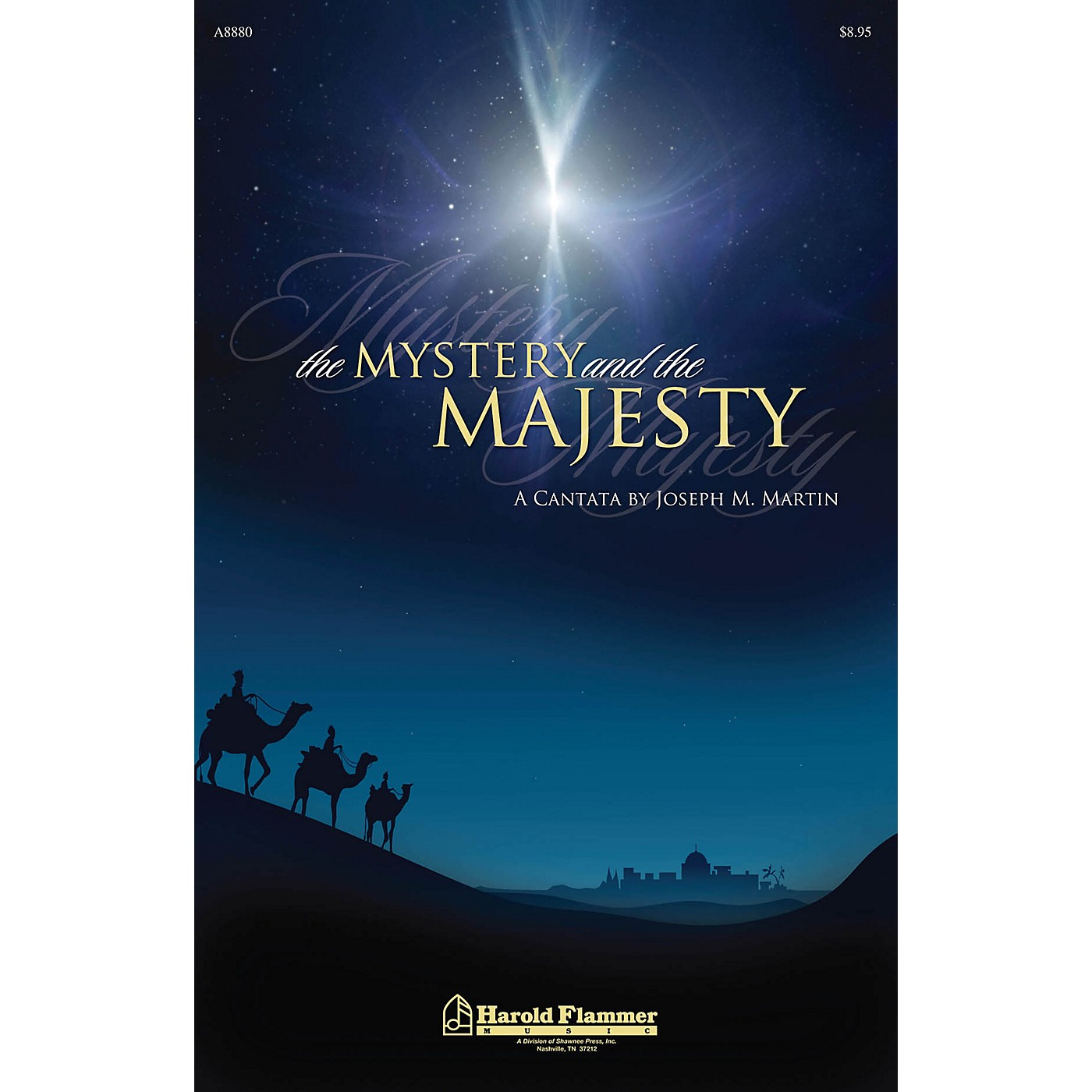 Shawnee Press The Mystery and the Majesty HANDBELLS (2-3) Composed by Joseph M. Martin thumbnail