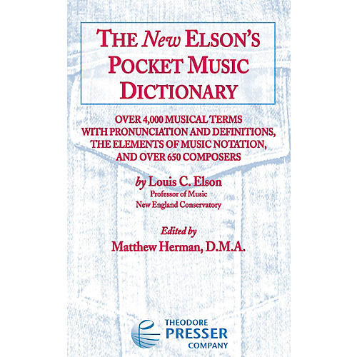 Carl Fischer The New Elson's Pocket Music Dictionary thumbnail