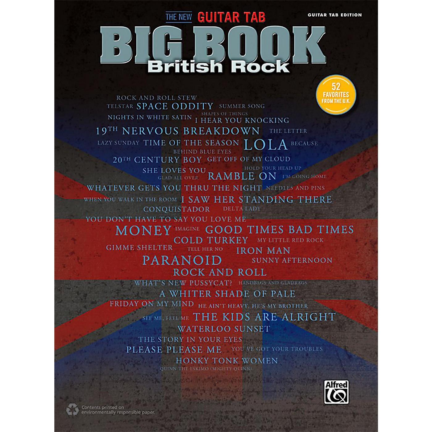 Alfred The New Guitar TAB Big Book British Rock thumbnail