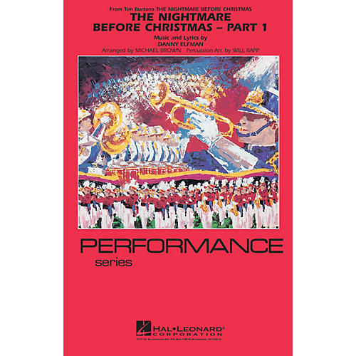 Hal Leonard The Nightmare Before Christmas - Part 1 Marching Band Level 4 Arranged by Will Rapp thumbnail