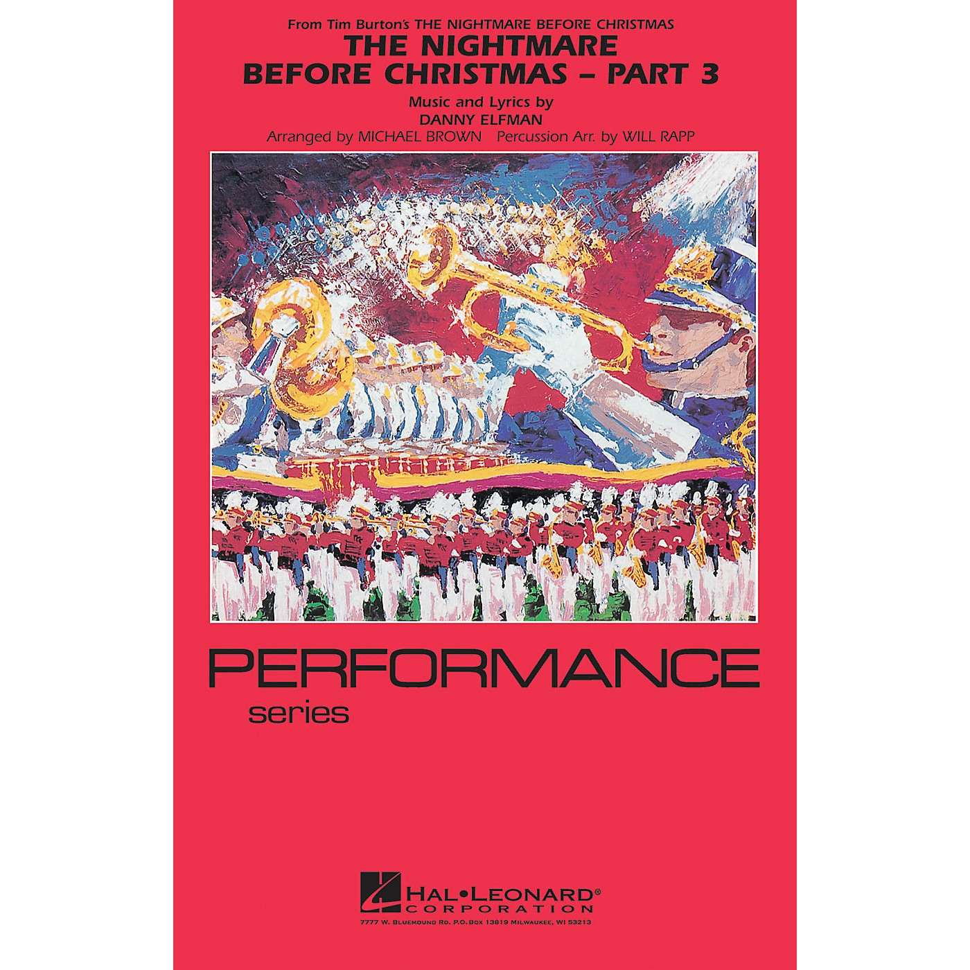 Hal Leonard The Nightmare Before Christmas - Part 3 Marching Band Level 4 Arranged by Will Rapp thumbnail