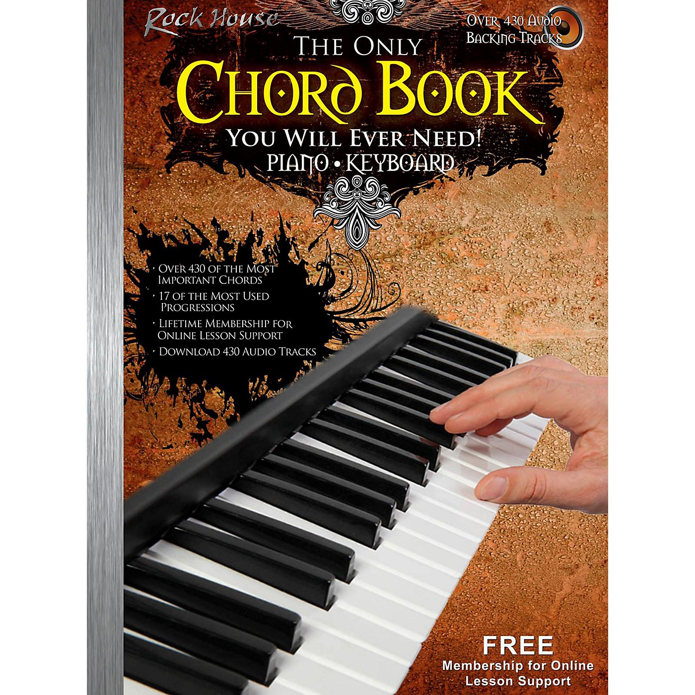 Rock House The Only Chord Book You Will Ever Need For Keyboard/Piano - Book/Audio Online thumbnail