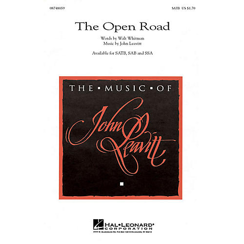 Hal Leonard The Open Road SATB composed by John Leavitt thumbnail