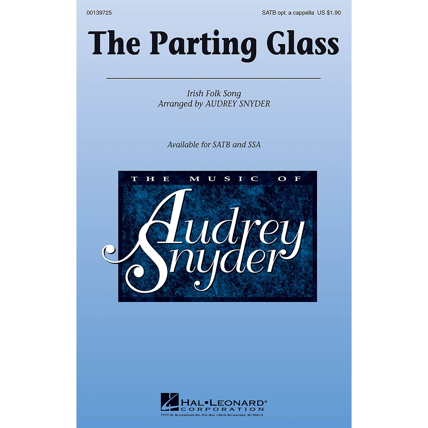 Hal Leonard The Parting Glass SSA Optional a cappella Arranged by Audrey Snyder thumbnail
