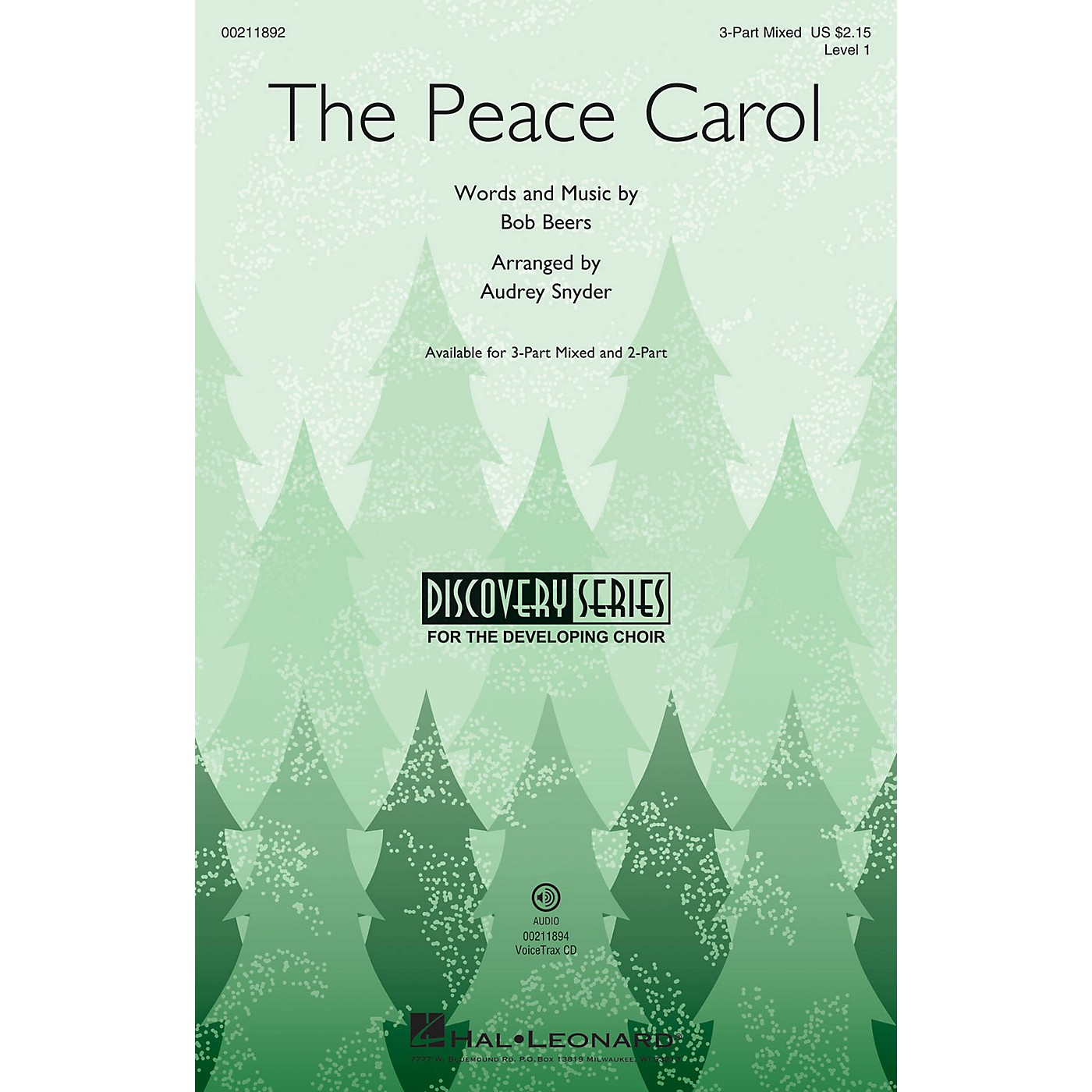 Hal Leonard The Peace Carol (Discovery Level 1) 3-Part Mixed arranged by Audrey Snyder thumbnail
