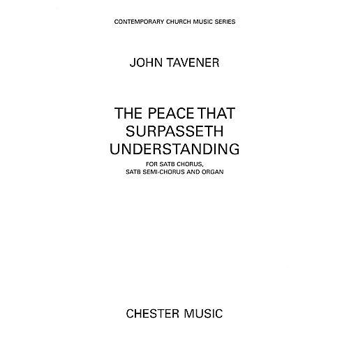 Hal Leonard The Peace That Surpasseth Understanding For Satb Chorussatb Semi-chorus And Organ by John Tavener thumbnail