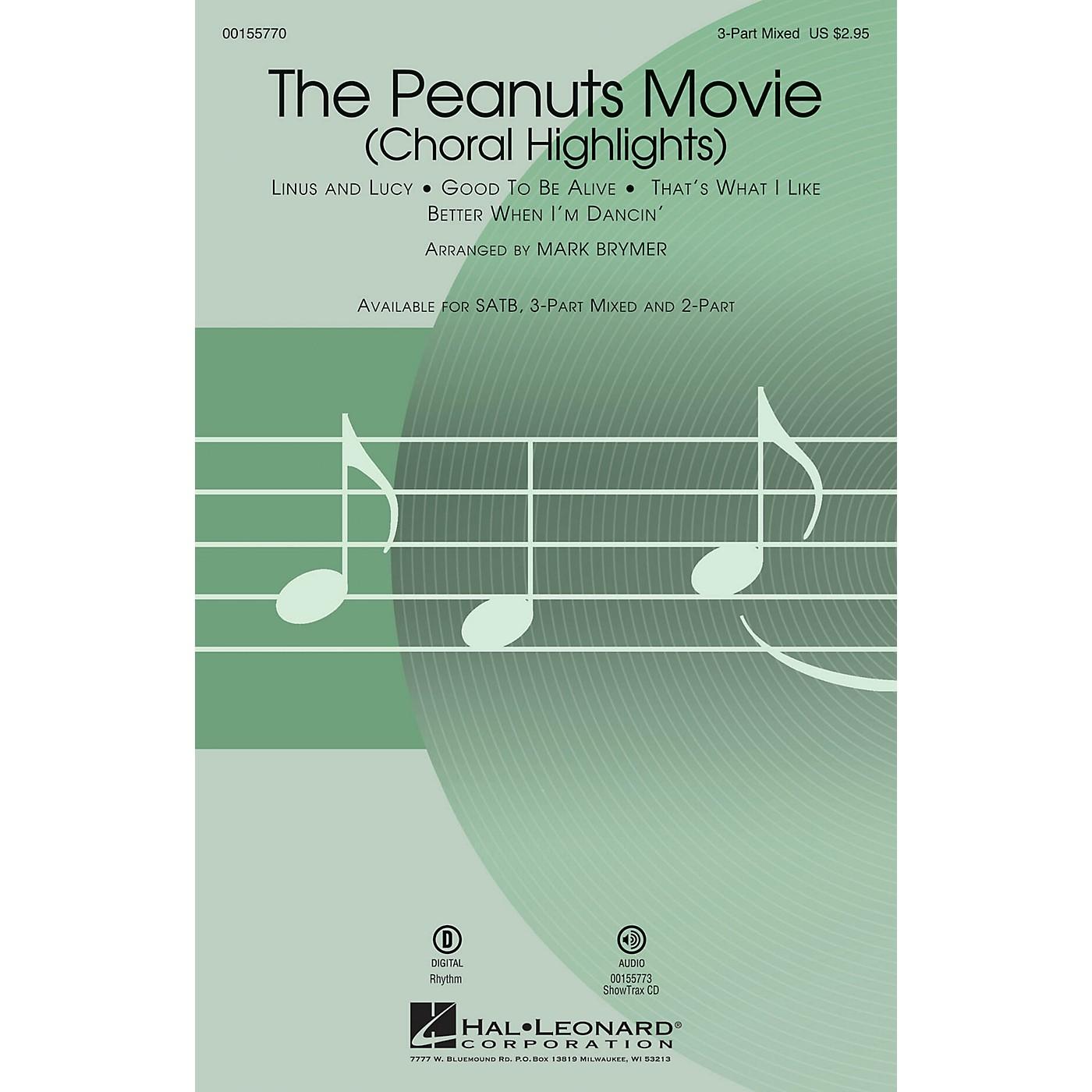 Hal Leonard The Peanuts Movie (Choral Highlights) SAB arranged by Mark Brymer thumbnail
